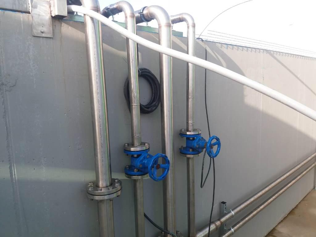 Sistema assemblato in acciaio inox per impianti di depurazione
