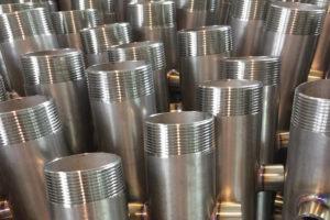 Filettatura su collettori acciaio inox