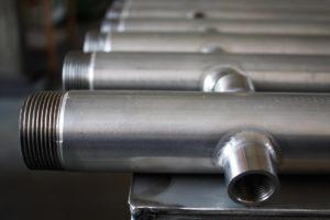 Lavorazioni meccaniche su collettori inox