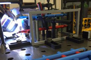 Saldatura gabbie di protezione per collettori gas tecnici