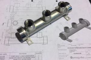 Particolari acciaio inox per macchine industriali