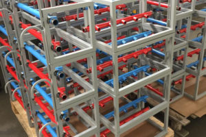 Imballaggio gabbie collettori per gas tecnici