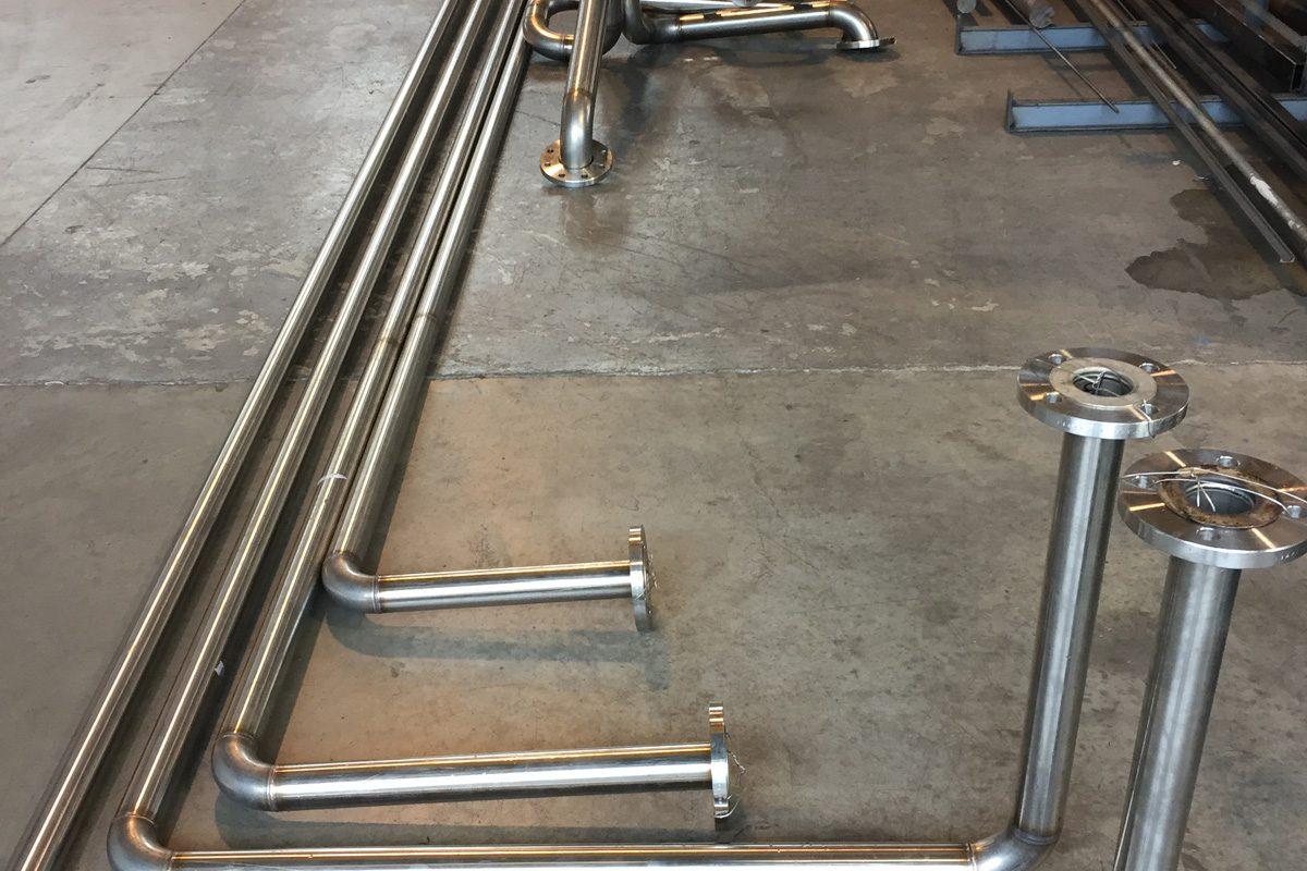 Componenti acciaio inox impianti di depurazione